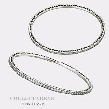 "Authentic Pandora Silver Twinkling Forever CZ Bangle Bracelet 8.3"" 590511CZ-21"