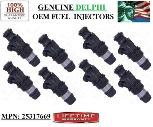 8x 4HOLE OEM UPGRADE Delphi Fuel Injectors for 2003-2004 ISUZU ASCENDER 5.3L V8