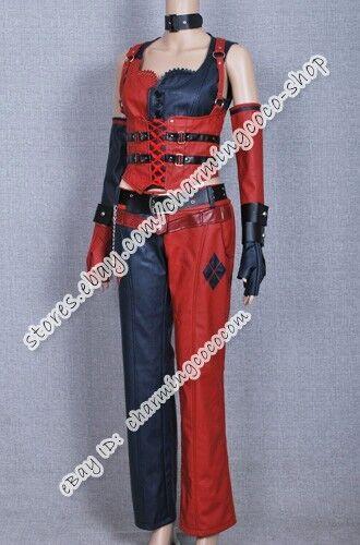 Batman Cosplay Arkham City Harley Quinn Costume Leather  Halloween Clothing