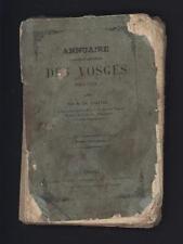 █ Charles CHARTON Annuaire statistique et administratif des VOSGES pour 1852 █