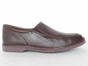 Hitchcock Mens Lambskin House Slippers 72 Brown Size 6 15 3E 5E Wide