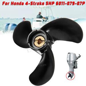7-7//8 x 7-1//2 Aluminum Ship Propeller For Honda Outboard Motor 5HP 6011-079-07P