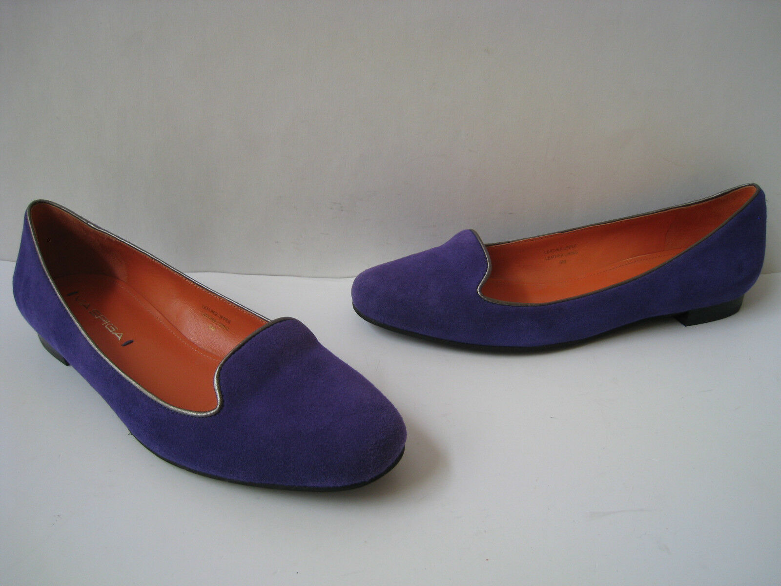 VIA SPIGA PURPLE SUEDE LEATHER BALLET FLATS Donna size US 6M HOT  RARE GREAT
