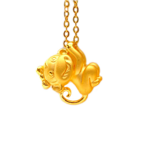 Good The 12 Chinese Zodiacs Gold Plated Monkey Pendant Collar Necklace Chain