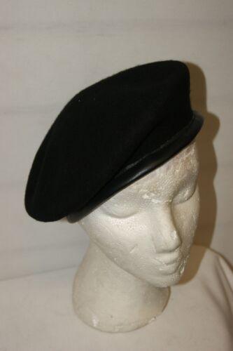 PREMIUM BRITISH ARMY BERET BLACK NEW WOOL HAT CAP MILITARY ALL SIZES BERETS