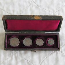 1897 QUEEN VICTORIA SILVER 4 COIN MAUNDY SET - dated case