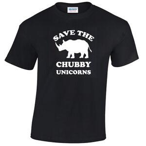 Save-The-Chubby-Unicorns-Mens-Funny-T-Shirt-S-5XL-rhino-gift-unicorn-gift