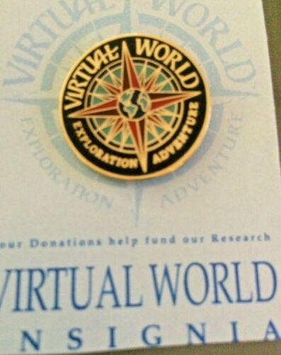 VIRTUAL WORLD Insignia Pin The Virtual Geographic League TM