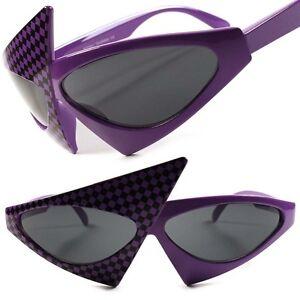 Funky Party Fashion Retro Style Purple Mirror Silver Lens Sunglasses Glasses