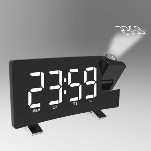 USB Digital Radiowecker mit Projektion Uhrenradio Funkwecker UKW