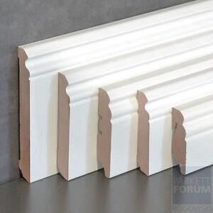 Fußleisten Weiß fußleiste cube berliner sockelleiste 58 80 mm weiß lackiert ebay