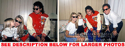 MICHAEL JACKSON 1986 with BILLY JOEL 2xRARE PHOTOS