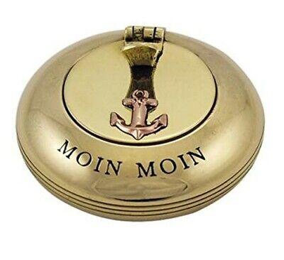 Messing//Kupfer Zigarettenablage 5 cm magicaldeco maritimer Taschen Aschenbecher