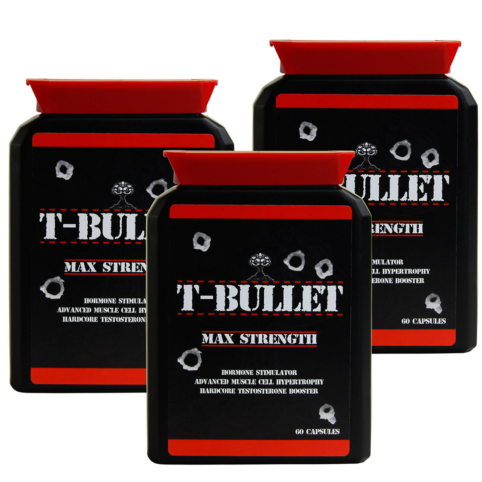 GENUINE ORIGINAL T BULLETS EXTREME TESTOSTERONE BOOSTER - PRO ANABOLIC TEST X3