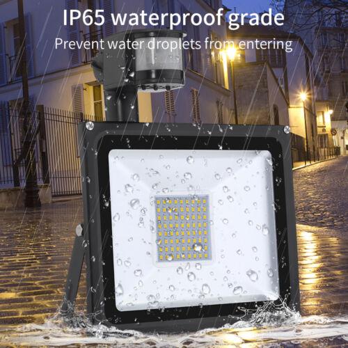 10W 20W 30W 50W 100W LED Fluter MIt Bewegungsmelder Strahler Außen Flutlicht DHL