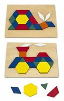 Melissa And Doug Pattern Blocks And Boards , New, Free Shipping