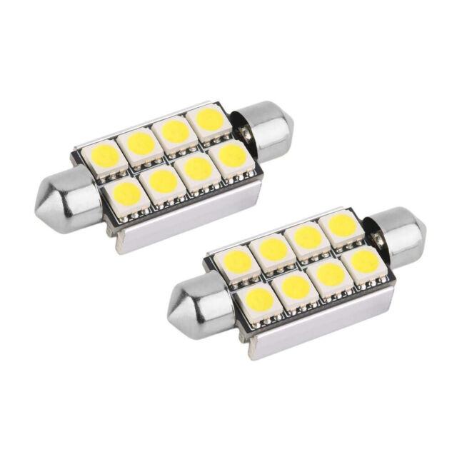 2 Luci 8 SMD LED 5050 per Canbus Auto C5W 42mm Dissipatore Lampadine - Qualità