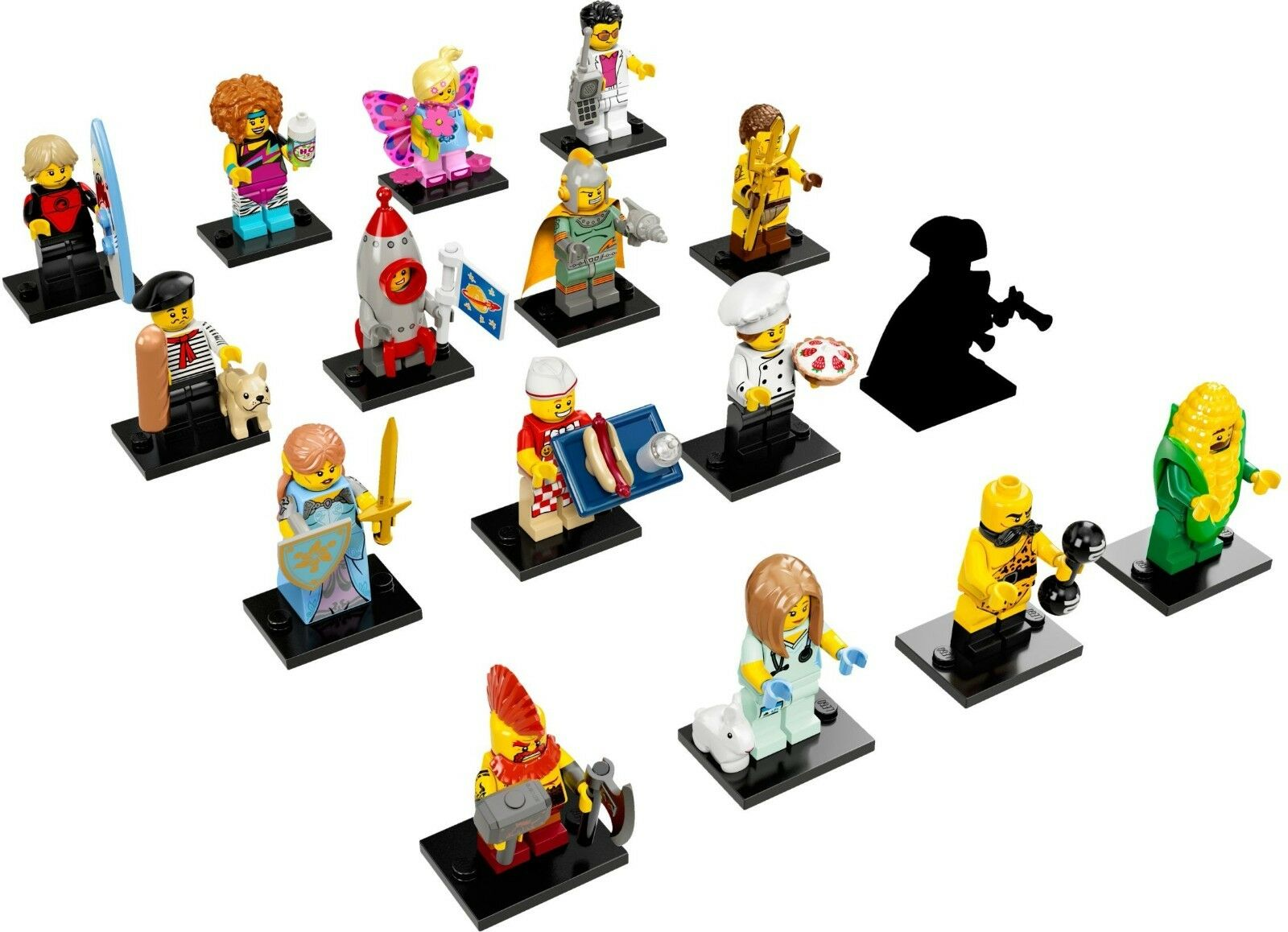 LEGO Minifigures Series 17 (Complete Set of 16 x Minifigures) - NEW - FREE DELIV