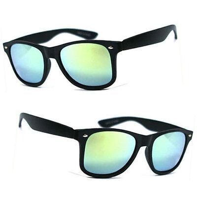 Retro Square Frame POLARIZED Lens Sunglasses Wrap Around Revo Mirror Lens UV400