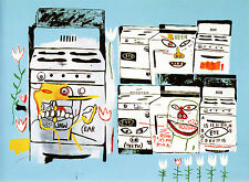 QUADRO STAMPA SU TELA CANVAS JEAN MICHEL BASQUIAT STOVES 40X30 POP ART WARHOL