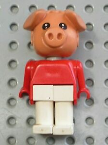 Cochon-LEGO-Fabuland-Personnage-Figure-pig-ref-x599c04-Set-3631-amp-3711