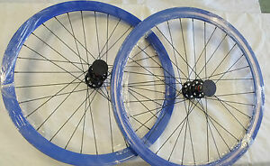 ORIGIN-8-TRACK-8-Fixed-Gear-Wheel-Set-Wheelset-BLUE-42MM-DEEP-V