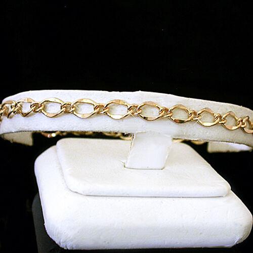 "All Sizes 7""-9"" 5mm Fancy Curb Link 14k Gold Ep Bracelet New"