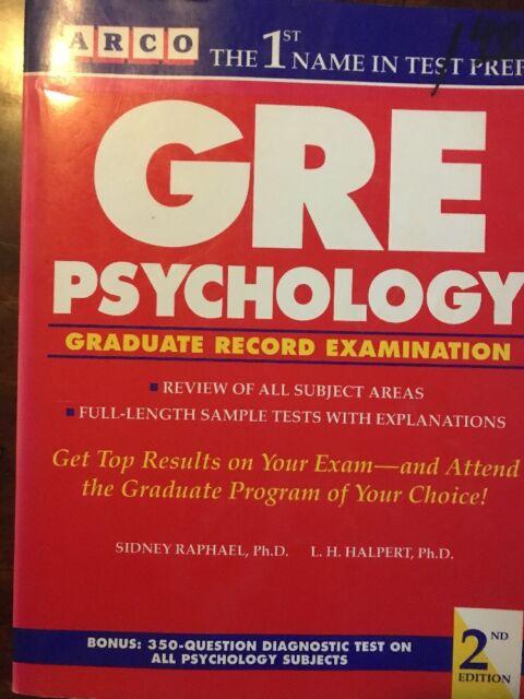GRE : Psychology by Sidney Raphael (1994, Paperback)