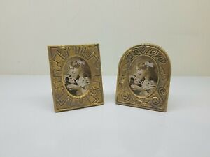 (2) Small Ornate Picture Photo Frame Self Standing Gold Color US SELLER
