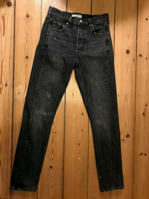 Jeans, Levi's, str. 25,  slidt sort/grå,  Ubrugt,  Model:…