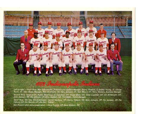 1972 INDIANAPOLIS INDIANS 8X10 TEAM PHOTO REDS  BASEBALL INDIANA USA