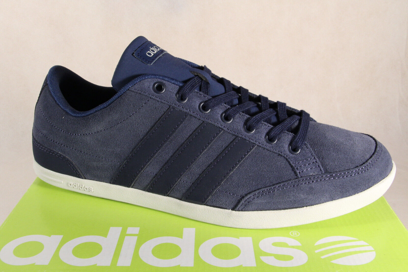 Adidas à Lacets Baskets chaussures chaussures Caflaire Cuir bleu Neuf