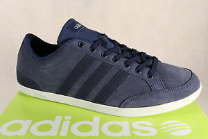 Das Bild wird geladen Adidas-Schnuerschuhe-Sneakers-Halbschuhe-Sportschuhe- CAFLAIRE-Leder-blau- f57f536096