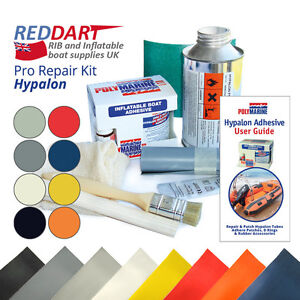 Details about Inflatable Boat Repair Kit, Hypalon Fabric, Hypalon Adhesive,  Solvent Cleaner