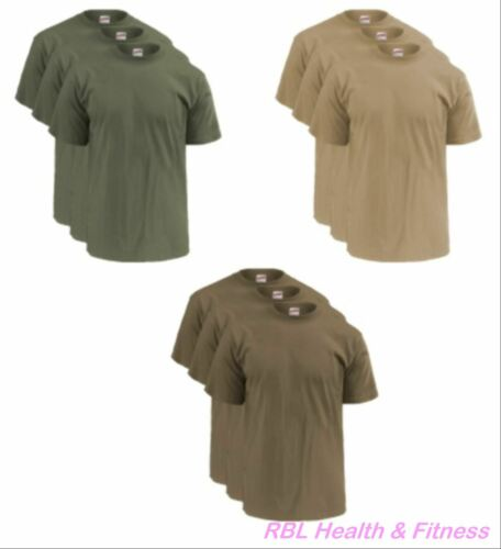 SOFFE 3-Pack OCP Men's T-Shirts -  50/50 Cotton Poly - M280 Olive, Sand or Tan