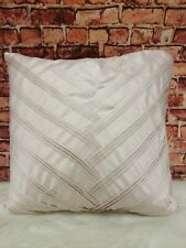 """Vince Camuto Faux Fur Pillow Cover 26"""" Oversized Gray Brown Beige"""