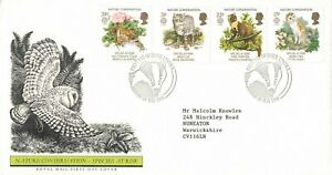 GB FDC 20 May 1986 Nature Conservation Species at Risk - Lincoln Cancel OD8