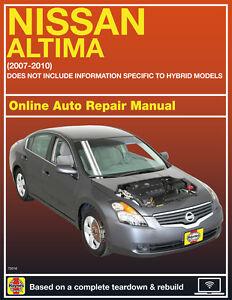 2007 nissan altima haynes online repair manual select access ebay rh ebay com 2011 Nissan Altima Repair Manual 98 Nissan Altima Repair Manual