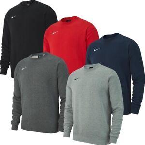 Mens-New-Nike-Crew-Logo-Fleece-Sweatshirt-Jumper-Pullover-Cotton-Sweater