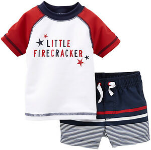 NWT Patriotic July 4th 2 Piece Boy/'s Set Red White Blue 3-6 6-9 Months Stars