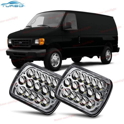 "For Ford E-150 E-250 E-350 5X7 7x6/"" LED Headlight Sealed Beam Light Bulbs"