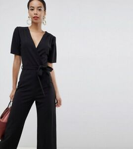 72f60d17b66 Image is loading Tall-Wide-Leg-Black-Jumpsuit-Size-10