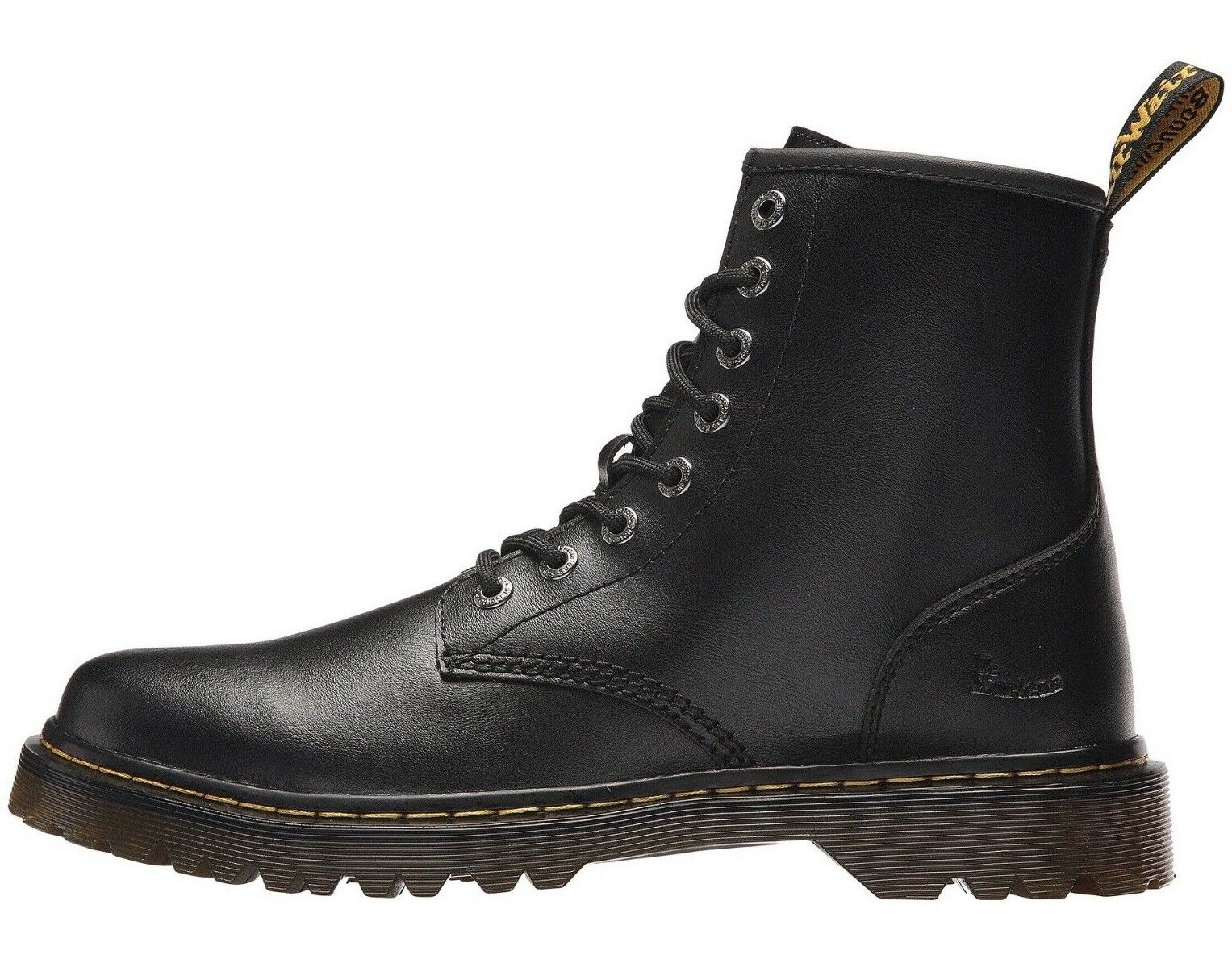 Dr. Martens Awley 6  Men's Black Leather Combat Boots BRAND NEW