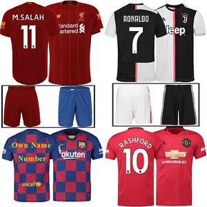 2019-2020 Football Kits Home Kits Kids Boys Jersey Strip Sports Outfit RONALDO 7