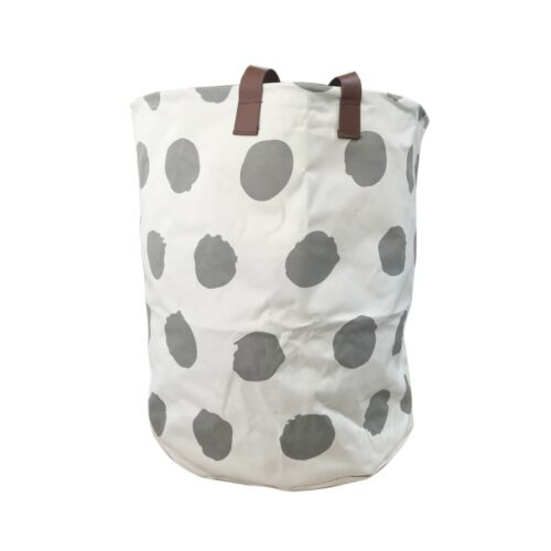 Baby Toys Canvas Storage Bag Laundry Basket Storage Bag With Leather Handbag UK