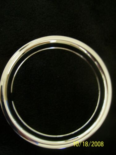 """15/"""" Chrome Steel Beauty Wheel Trim Rings Set of Four Chevy Ford 15 inch GM Dodge"""