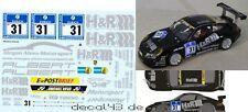 """1/43 DECAL PORSCHE 911 gt3 Cup S """"H & R"""" Jürgen laminazione Motorsport 24h N'RING 2011"""