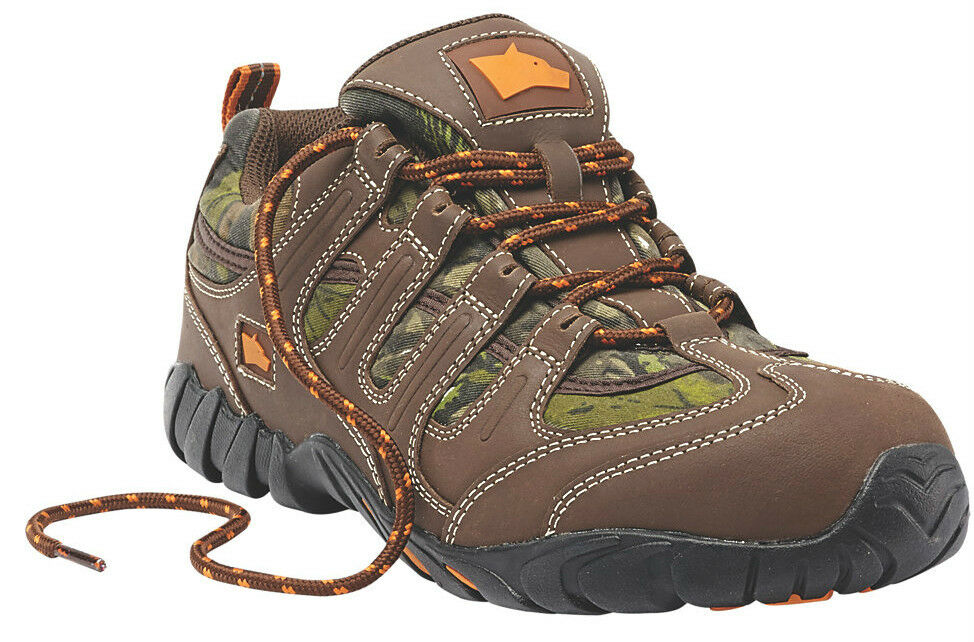 Hyena Dune Safety Trainers braun Camouflage Lining and and and Strong Rubber Outsole c98278