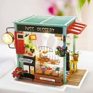 Rolife-DIY-Wooden-Miniature-Dollhouse-Furniture-Handmade-Crafts-Set-Dessort-Shop