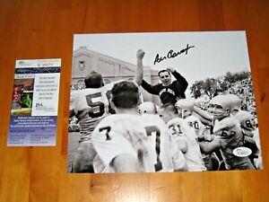 Ara Parseghian signed Notre Dame Fighting Irish 8x10 photo JSA Coach Black